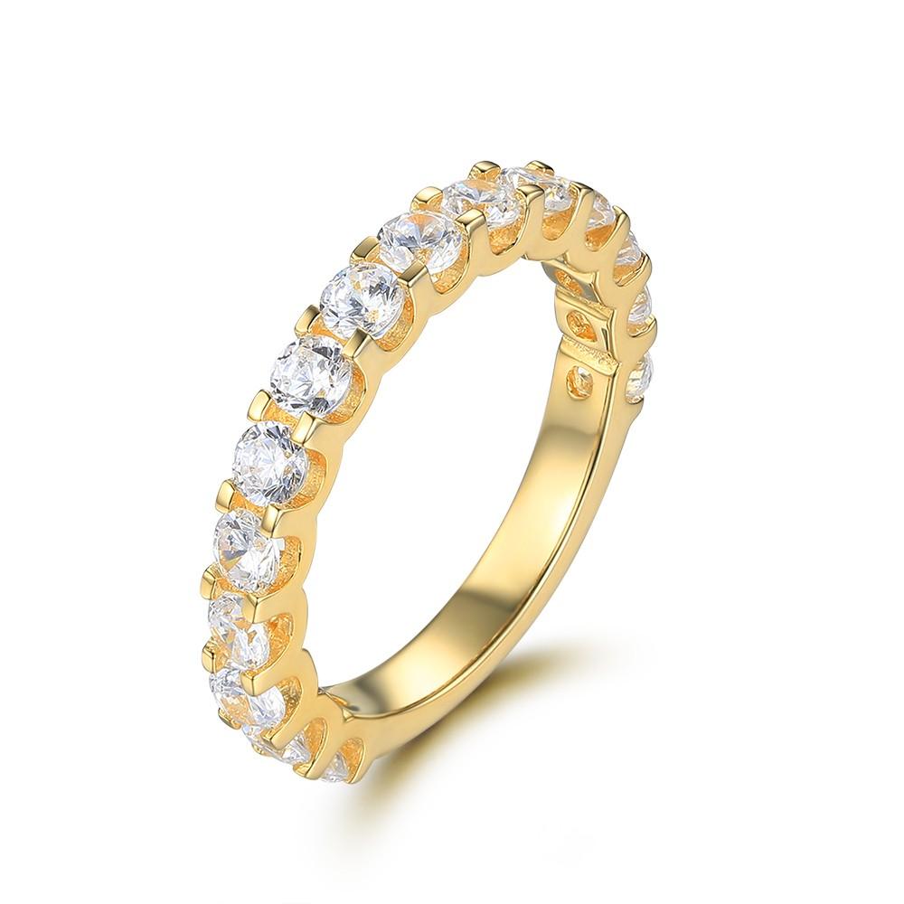 Weißemer Saphir Sterling Silber Memoire Ringe für Damen