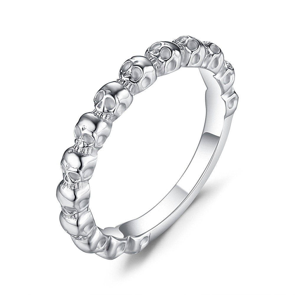 Attraktive Sterling Silber Damen Totenkopf-Ringe