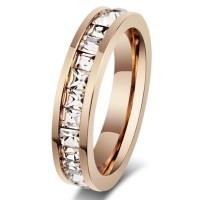 Titan Princess Schliff Weißemer Saphir Roségold Versprechen Ringe Für Sie