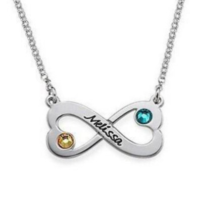 Infinity S925 Sterling Silber Personalized Engravable Halsschmuck