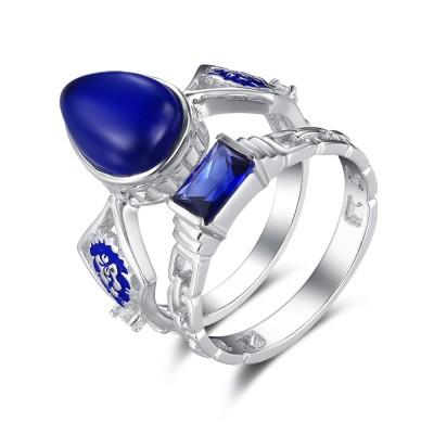 Fashion Pear Schliff saphir 925 Sterling Silber Braut-sets