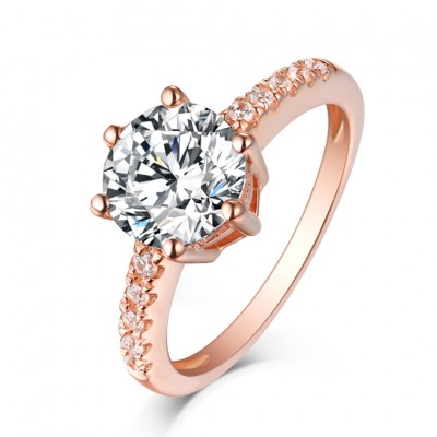 Weißemer Saphir RoséGelbgold Sterling Silber Verlobungsringe