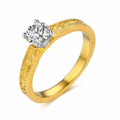 Rundschnitt Sterling Silber Frauen-Verlobungsring