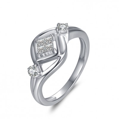 1 / 10CT Princess Schliff Zirkonia Sterling Silber Verlobungsringe