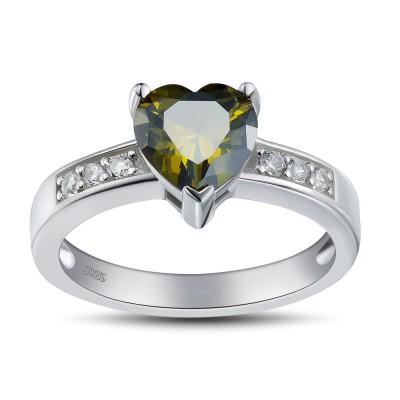 Herz Schliff Smaragd 925 Sterling Silber Versprechen Ringe für Sie