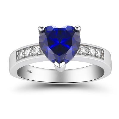 Herz Schliff saphir 925 Sterling Silber Versprechen Ringe für Sie