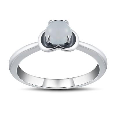 Runder Schliff Zirkonia 925 Sterling Silber Versprechen Ringe für Sie