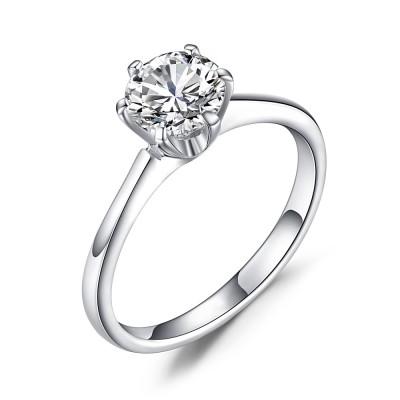 Zirkonia RundSchliff 925 Sterling Silber Verlobungsringe