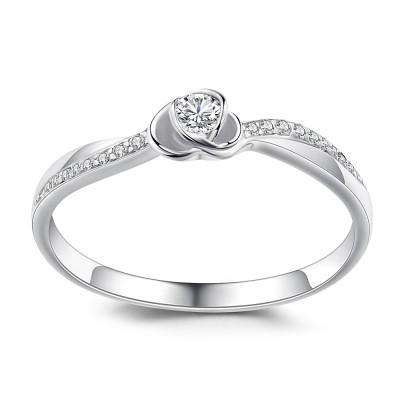 Herz Design Runder Schliff 925 Sterling Silber Verlobungsringe