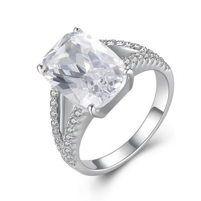 KissenSchliff Zirkonia 925 Sterling Silber Verlobungsringe