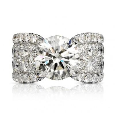 Rund Weißer Saphir Silber 925 Verlobungsringe