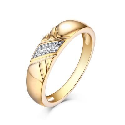 Runder Schliff Weißemer Saphir Gelbgold 925 Sterling Silber Memoire Ringe