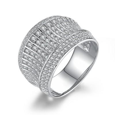 Unglaublicher runder Schliff aus Weißemem Saphir 925 Sterling Silber Damen Memoire Ringe