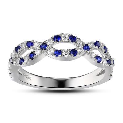 925 Sterling Silber Damen Verlobungsring