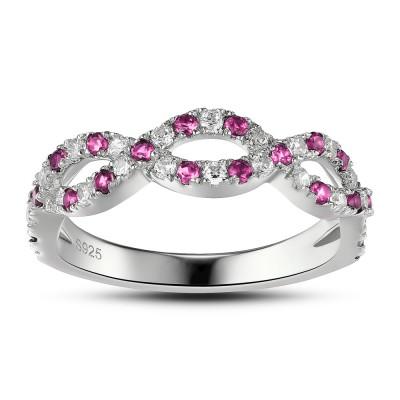 Rosa Saphir Sterling Verlobungsring für Frauen