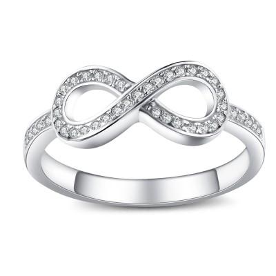 Runde Zirkonia 925 Sterling Silber Versprechen Ringe für Sie