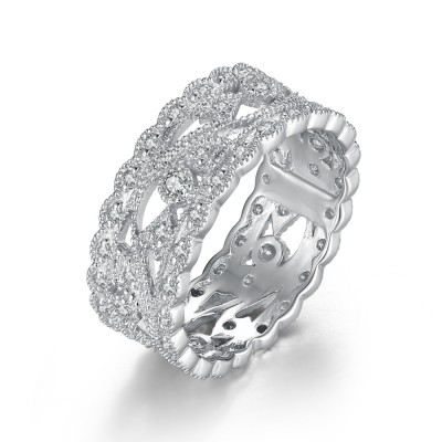 Fabulous Weißem Saphir 925 Sterling Silber Verlobungsringe