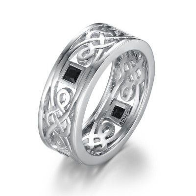 925 Sterling Silber Memoire Ringe für Männer