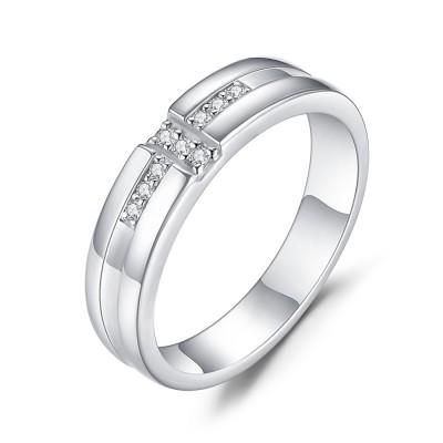 Weißemer Saphir mit 925 Sterling Silber im RundSchliff Verlobungsringe