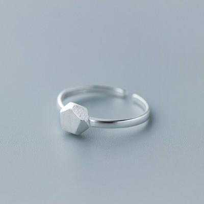 Einzigartiges Design Polygonal 925 Sterling Silber Versprechen Ringe für Sie