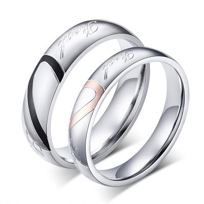 Titan Herz Design Versprechen Paarringe