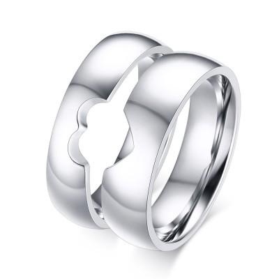 Spezielles Design Titan Versprechen Paarringe