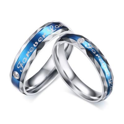 blau Forever Love - Titan-Zirkonia-Versprechen mit Paillinge