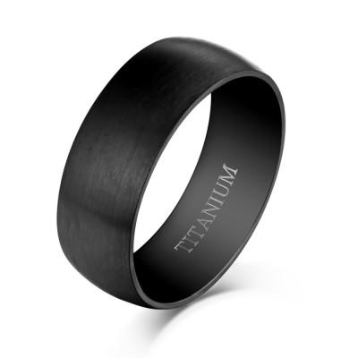 Cooles Design Schwarze Titan Herrenring
