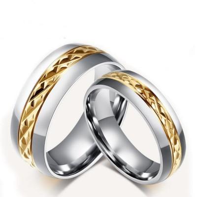 Gelbgold & Silber Titan Versprechen Paarringe