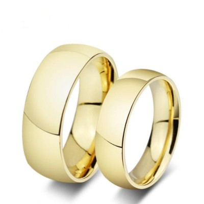 Titan Gelbgold Versprechen Paarringe