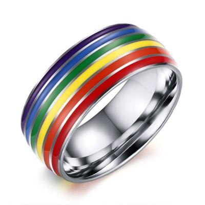 Titan Silber Rainbow Herrenring