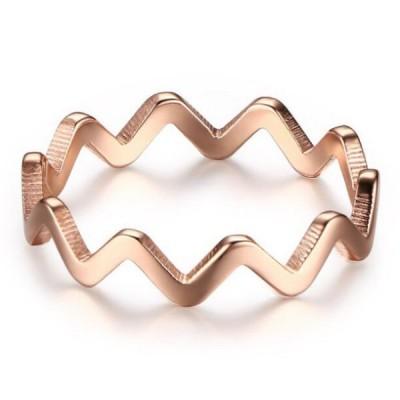Titan Ripple RoséGelbgold Versprechen Ringe für Sie