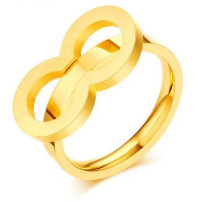 Titan Schlichte Gelbgold Versprechen Ringe For Her