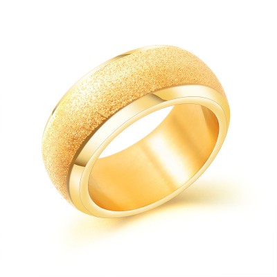 Gold Titan Stahl Scrub Herrenringe