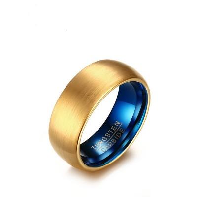 Wolfram Gold & Blau Herrenringe