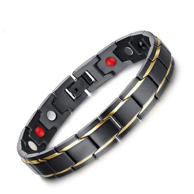 Cool Schwarze und Gelbgold 925 Sterling Silber Chain Armbänder