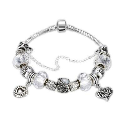 Weißem / Emerald / Rosa / Aquamarin / Topas / Hellblau Silber Titan Armbänders