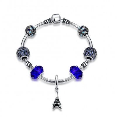 Eiffelturmperlen Kleines Zubehör S925 Sterling Silber Armbänders
