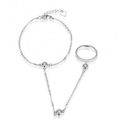 Einzigartige S925 Sterling Silber Ringe Armbänders