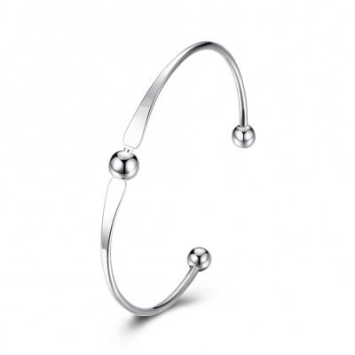 Schlichte und Elegant Silber Titan Bangles