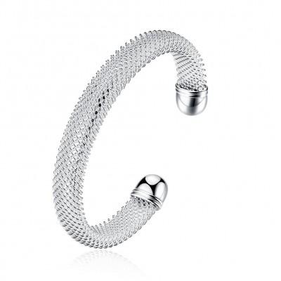 Einzigartiges Special Design Silber Titan Bangles