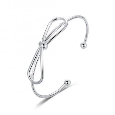 Bowknot Schöne Silber Titan Armreifen