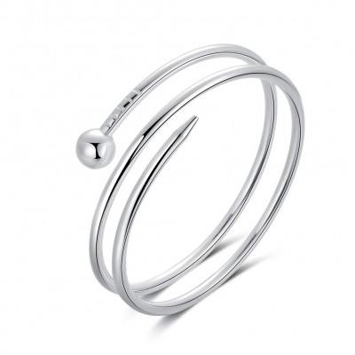 Schlichte und Cool Silber Titan Bangles