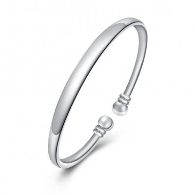 Schlichte und Nice Silber Titan Bangles