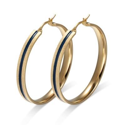 Blauer und Gelbgold 925er Sterling Silber Ohrring