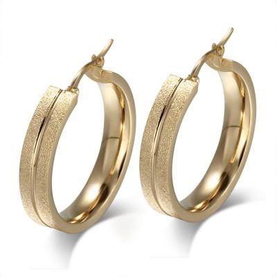Wundervoller Gelbgold 925er Sterling Silber Ohrring