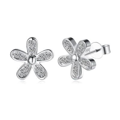 Weißemer Saphir S925 Sterling Silber Ohrring