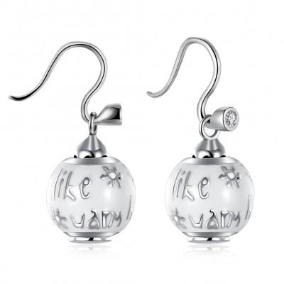 Schneemann schöne S925 Sterling Silber Ohrring