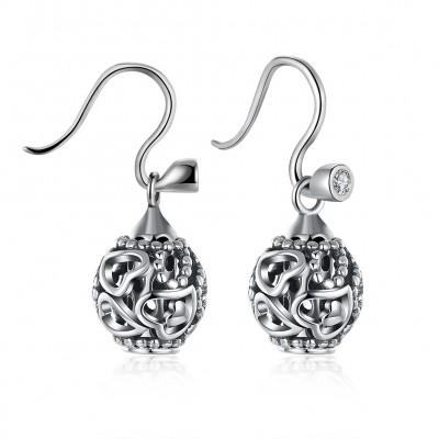 Elegantes Herz S925 Sterling Silber Ohrring