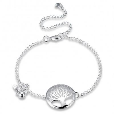 Elegante Silber-Titan-Fußkettchen